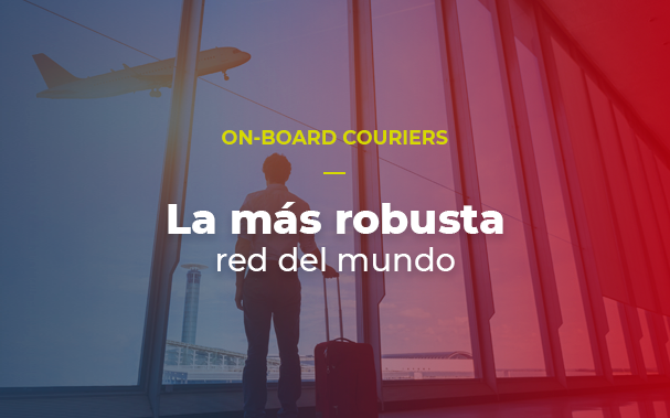 On-board courier esperando por su vuelo
