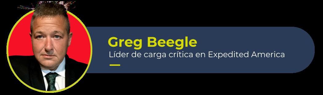 Imagen de Greg Beegle, líder de carga crítica de Expedited America y autor de este artículo
